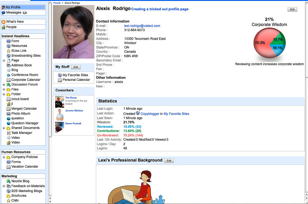 social media complete profile financial advisors