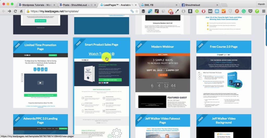 webinar marketing for financial advisors landing pages